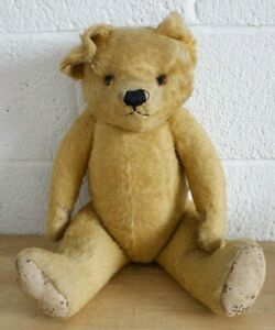 """Large Vintage Well Loved Articulated Limb Teddy Bear 23"""" (Hospiscare)"""