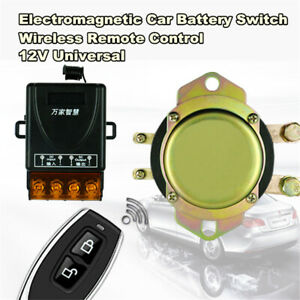 12V Car Battery Switch Wireless Remote /Manual Control Disconnect Latching Relay