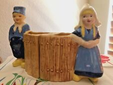 Stewart McCulloch California Pottery Set of Dutch Boy and Girl Planter Bookends