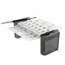 Portable Painter : Hands-Free Watercolour Palette : Black with Folding Brush