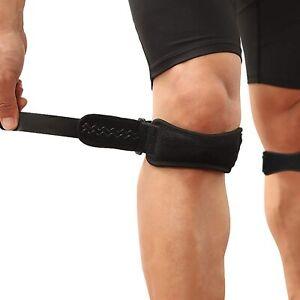 2 x Tutore per ginocchio, Fascia regolabile per sollievo dolore rotula Per Sport