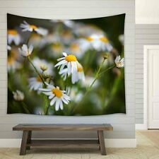 wall26 - Field of Daisies on Meadow at Spring Time - Tapestry - 68x80 inches