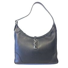 53708a9ee858 HERMES Trim 31 Black Epsom Leather Palladium Silver Shoulder Bag (Retail   4300)