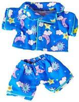 """8"""" BLUE SUNNY  DAYS  PJ  PYJAMAS TEDDY OUTFIT  FITS 8""""-10"""" (20CM) TEDDY BEARS"""