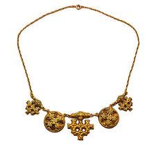 Silber vergoldete Halskette Collier Hiddensee Wikinger Kreuz Amulett Thorhammer
