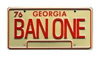Smokey and the Bandit | 1977 Trans Am | BAN ONE | STAMPED Prop License Plate