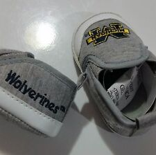 U of M Pre-walkers crib shoes size 3 (6-9 months)