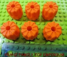 LEGO Lot of 6 Orange WHEEL Hard Plastic Small 22 MM X 24 MM Space Part 6118