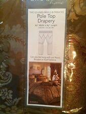 Croscill Home Fashions MONARCH Pole Top Drapery Lined Panels 82 x 84-Inch (2)