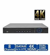 8CH NVR4208-8P-4K +8Port PoE Built-in for IP Camera Up to 12MP,Support Mobile
