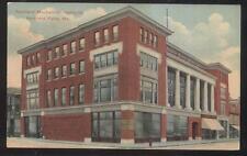 Postcard RUMFORD FALLS Maine/ME  Mechanics Institute 3 Story Building view 1907