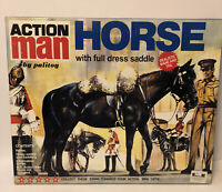 Action Man by Palitoy Horse w/ Full Dress Saddle MIB STILL STRAPPED! OPEN BOX