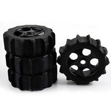 4x Beach Rubber Tire & Plastic 5 Holes Wheel Rim 17mm Hex for RC1:8 Off Road Car