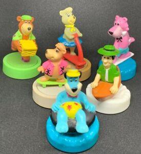 Yogi Bear 1990 Wendy's Kid Meal Gliders Hanna Barbera Set of 6 Cindy Boo Boo