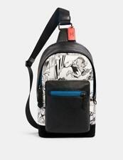 NWT Coach 2411 Marvel West Pack Comic Book Print Sling Backpack Bag MSRP $350