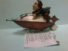 Mini Flying Machine 2089 Small Blimp With Man on Top Mobile MINT Hand Made