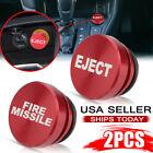 2PCS Car Cigarette Lighter Cover Accessories Universal Fire Missile Eject Button