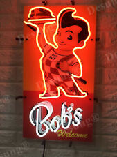 "Bob's Big boy Restaurant Diner 19""x12"" Neon Lamp Light Sign With Dimmer"