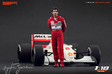 1/18 Ayrton Senna Mclaren figure VERY RARE !!! for 1:18 Autoart Minichamps