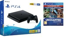 SONY PLAYSTATION 4 PS4 CONSOLE 500GB CHASSIS F SLIM HDR NUOVO NERO + GIOCO