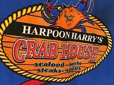 T-SHIRT 3XL  BLUE -HARPOON HARRY'S CRABHOUSE PIGEON FORGE h