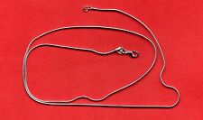 Chaîne de cou en argent - maille serpent - 60 cm