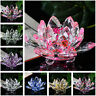 Crystal Lotus Flower Candle Glass Tealight Clear Tabletop FengShui Decor New D