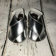 Silver Color Baby Shoes 9-18m