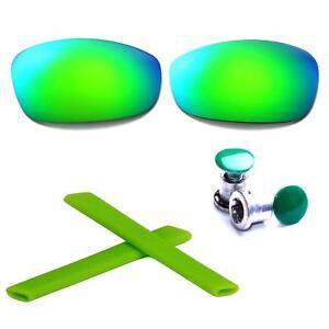 New Walleva Polarized Purple Lenses + Earsocks + Bolts For Oakley Split Jacket