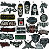 punk rock music metal movie logo name embroidered sew/iron on patch/badge/