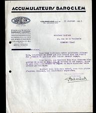 "COURBEVOIE (92) BATTERIES ACCUMULATEUERS BAROCLEM ""BARRAULT & CLEMENT"" en 1931"