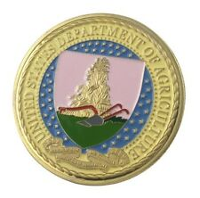 U.S. United States | Department Of Agriculture | Gold Plated Challenge Coin