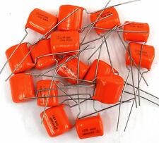 Lot of 14 New .22 Uf 224K 200Vdc Vishay Sprague Orange Dip Capacitors Cf