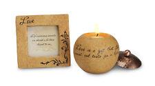 """Love Gift Set : 3.5 Photo Frame & 3"""" Tea light holder with loving sentiment"""
