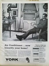 1963 York air conditioning conditioner power for larger rooms ad
