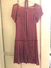 Marciano silk dusty rose dress with pleats Size XS