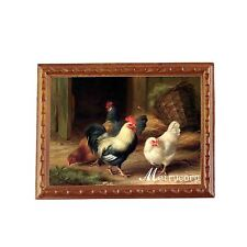 1/12 Scale Fine Miniature Picture Wooden Chickens For Dollhouse Decoration