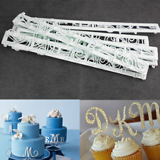 Cake Fondant Alphabet Numbler Cookie Biscuit Letter Decorating Cutter Sugar Mold