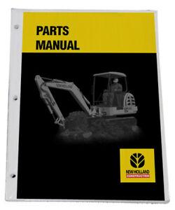 NEW HOLLAND EC35 Excavator Parts Catalog Manual - Part# 73185755