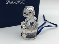 Swarovski Figurine 905208 Crystal Bear Ornament on Drum 2in Boxed & Certificate