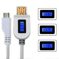 Neu Digital LED Anzeige Micro USB Daten Lade Spannungs Stromkabel Neu