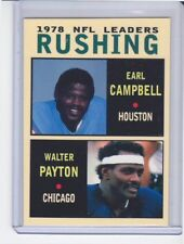 Earl Campbell / Walter Payton '78 NFL Rushing Leaders rare MC Glory Days #6