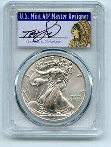 2021 (S) $1 Silver Eagle 1oz Dollar Emergency PCGS MS70 FS Cleveland Native