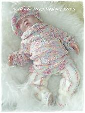 SOMEWHERE OVER THE RAINBOW * PAPER KNITTING PATTERN * Reborn/Baby 0-6 Months