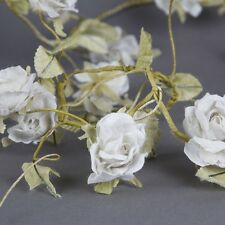 Rose Garland Cream 180cm Floral, Wedding, Shabby Chic, Vintage Style New