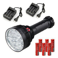 Rechargeable SKYRAY 32000 LM XML 16X T6 LED Handheld Flashlight Torch 6x18650