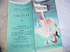VINTAGE LOVELY MAPS OF MONTEVIDEO URUGUAY ACCESS ROADS PARKS FROM 1947