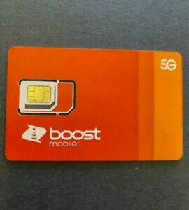 Boost Mobile 5G Expandable Network (Sim card activation kit)