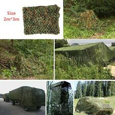 2X3M Woodland Camouflage Net Netting Military Hunting w/ String Backing Q1N7