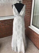 MAGGIE SOTTERO WEDDING DRESS SILVER UK SIZE 14 (ONE ONLY)